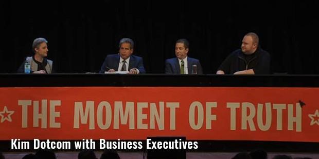 kim dotcom with business executives