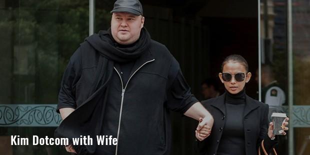 kim dotcom with wife