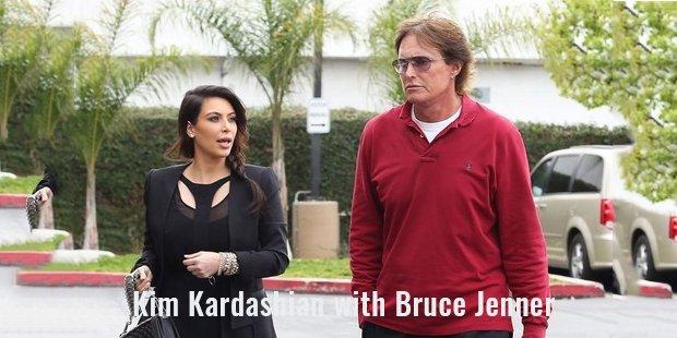 kim kardashian with bruce jenner