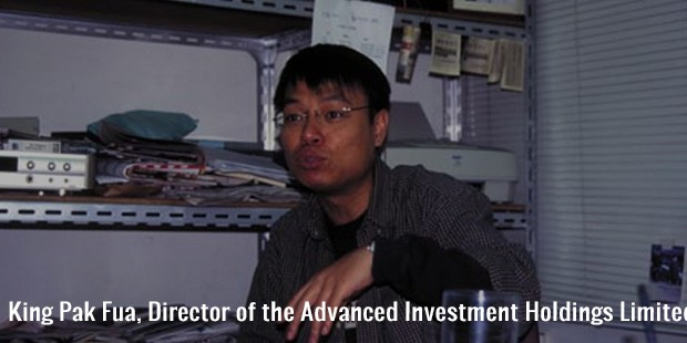 king pak fua, director of the advanced investment holdings limited