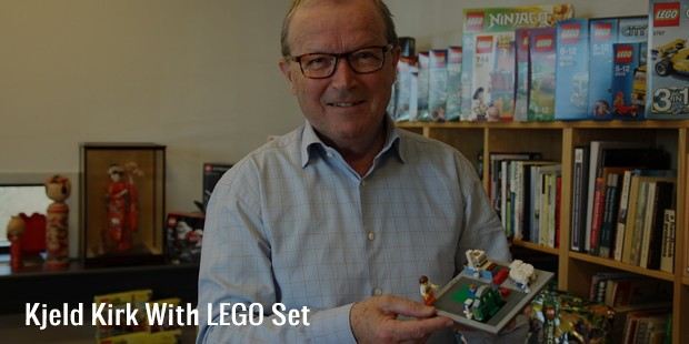 kjeld kirk with lego set