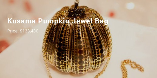 kusama pumpkin jewel bag