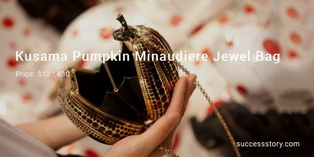 kusama pumpkin minaudiere jewel bag