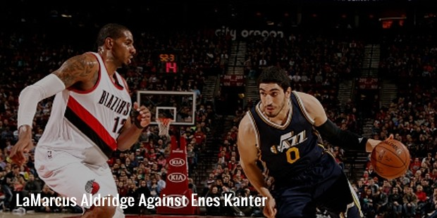lamarcus aldridge against enes kanter