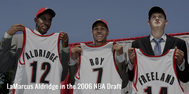 lamarcus aldridge in the 2006 nba draft