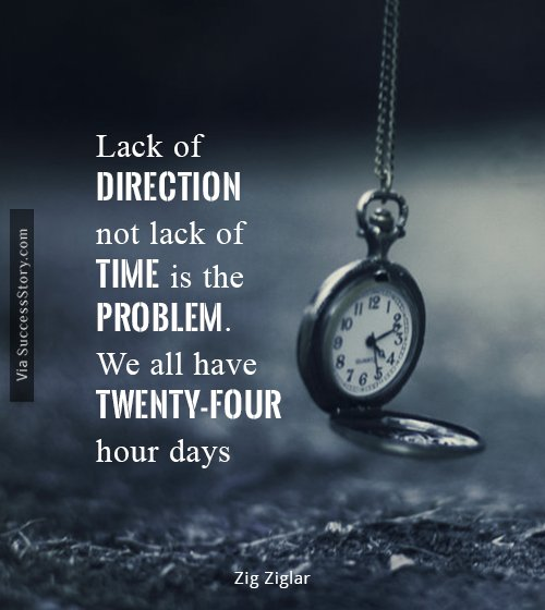 Lack of direction, not lack of time