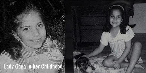 Lady Gaga in her Childhood
