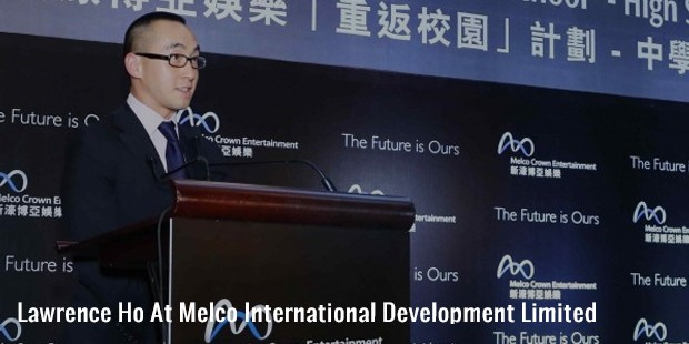 lawrence ho at melco international development limited