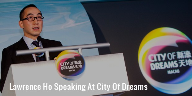 lawrence ho speaking at city of dreams