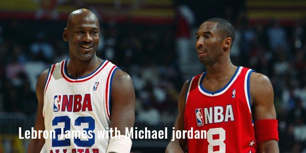 lebron james with michael jordan