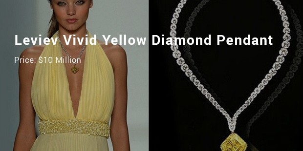 Leviev Vivid Yellow Diamond Pendant