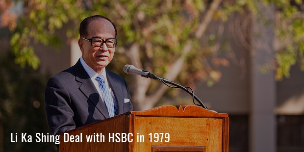 li ka shing deal with hsbc in 1979