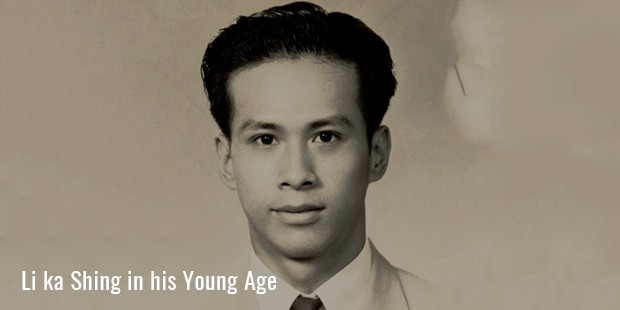 li ka shing in his young age