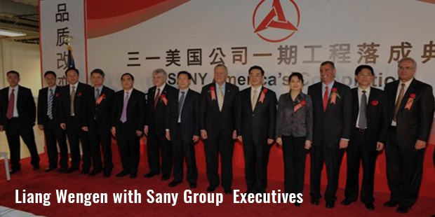 liang wengen with sany group  executives