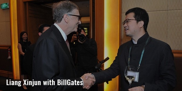 liang xinjun with billgates