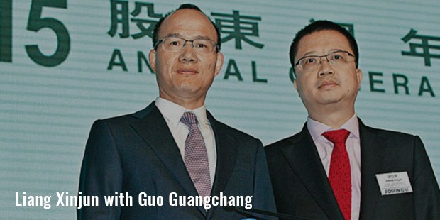 liang xinjun with guo guangchang