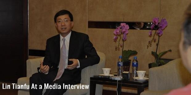 lin tianfu at a media interview