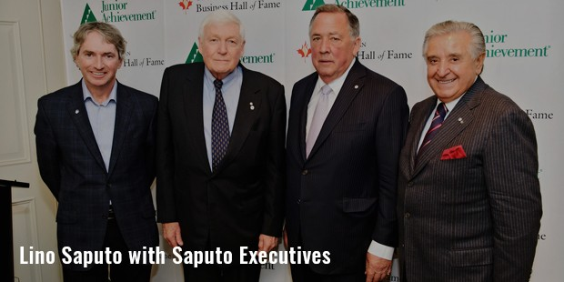 lino saputo with saputo executives