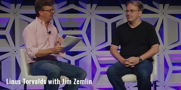 linus torvalds with jim zemlin