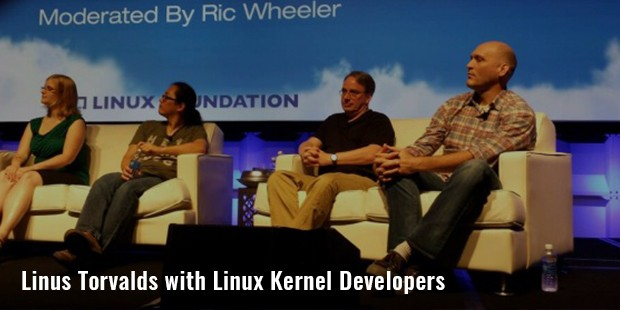 linus torvalds with linux kernel developers