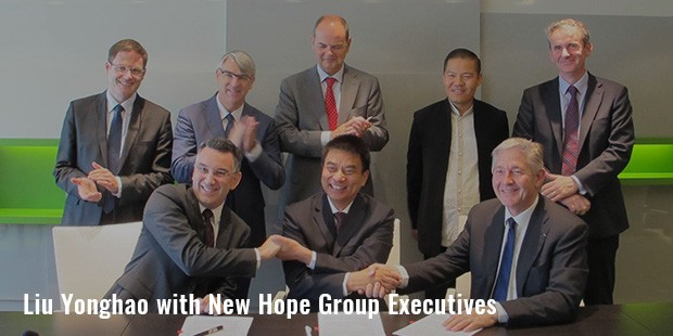 liu yonghao with new hope group executives