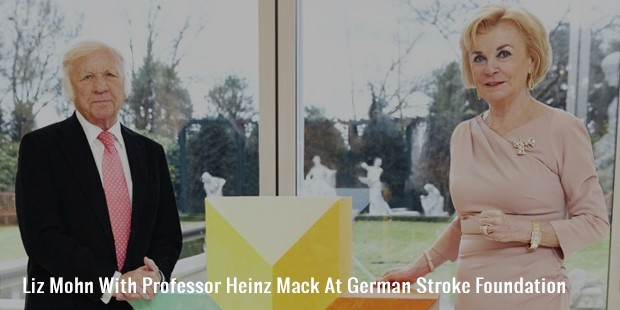 liz mohn with professor heinz mack at german stroke foundation