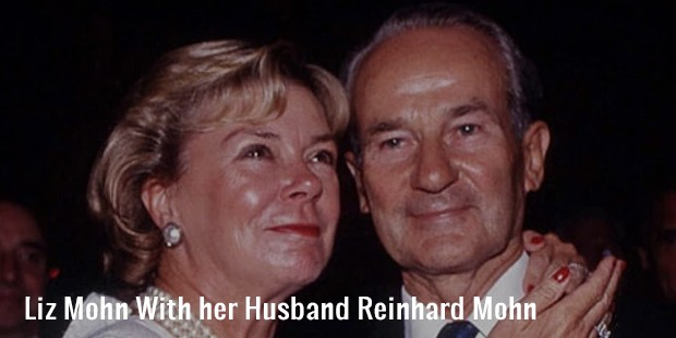 liz mohn with her husband reinhard mohn