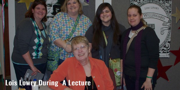 lois lowry during  a lecture