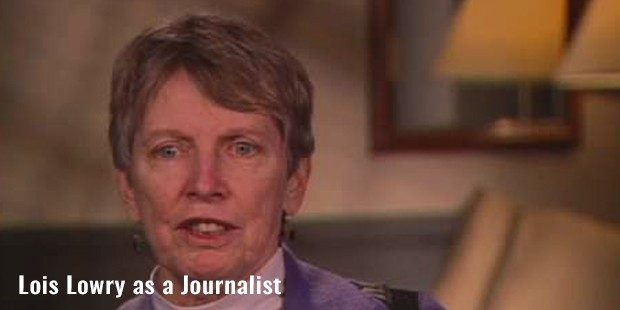 lois lowry as a journalist