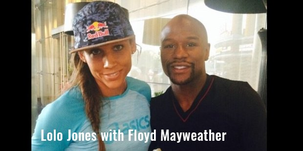 lolo jones with floyd mayweather