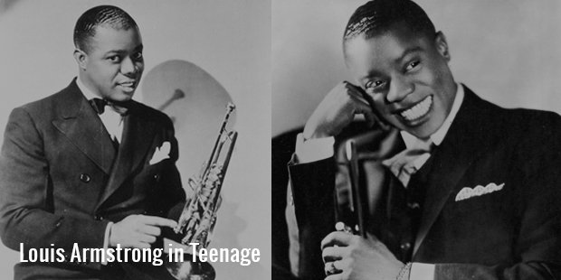 louis armstrong in teenage