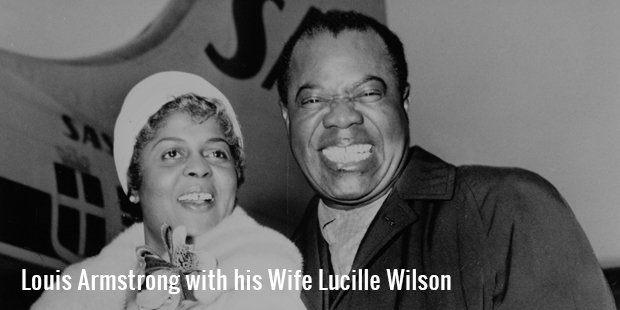 louis armstrong with his wife lucille wilson
