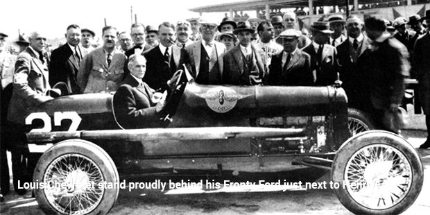 louis chevrolet stand with henry ford