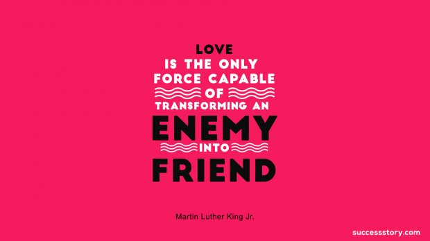 Love is the only force capable