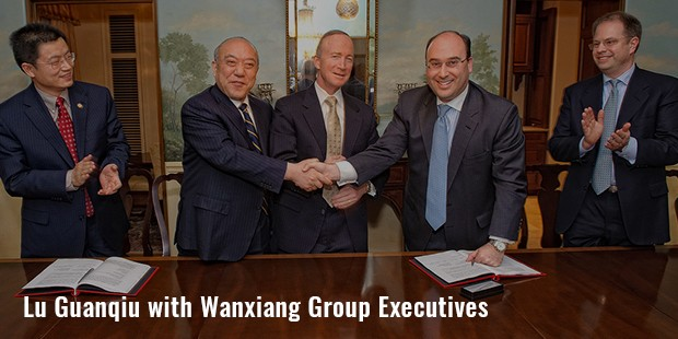 lu guanqiu with wanxiang group executives