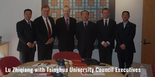 lu zhiqiang with tsinghua university council executives