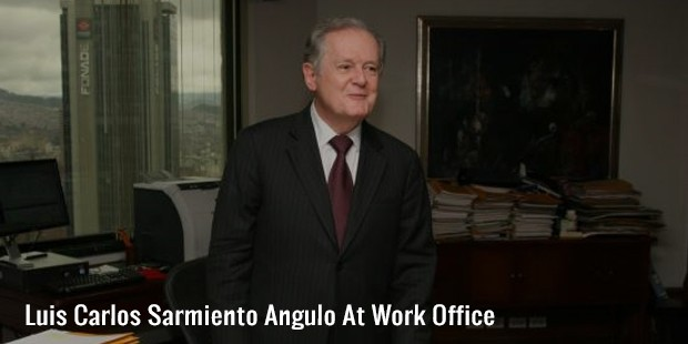 luis carlos sarmiento angulo at work office