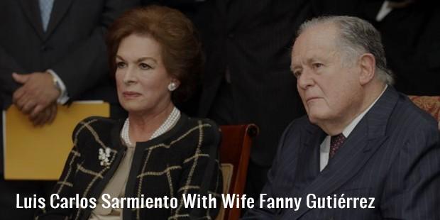 luis carlos sarmiento with wife fanny gutierrez