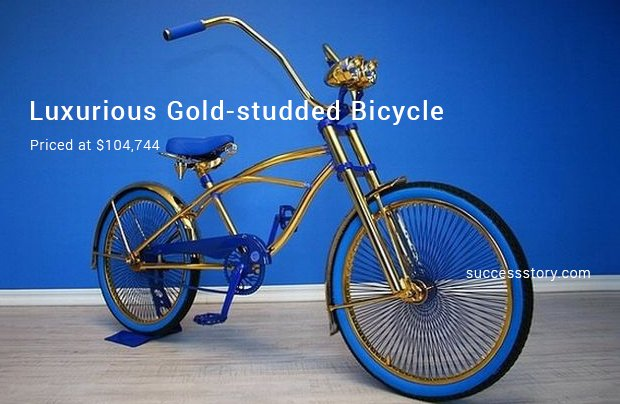 luxurious gold studded bicycle