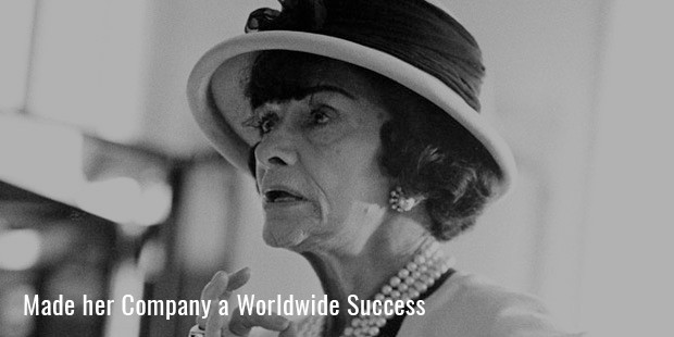 made her company a worldwide success