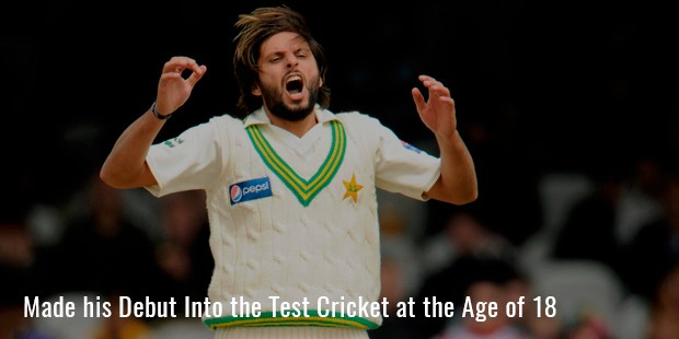 made his debut into the test cricket at the age of 18