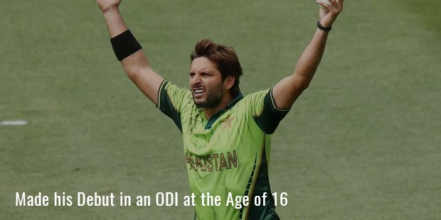 made his debut in an odi at the age of 16