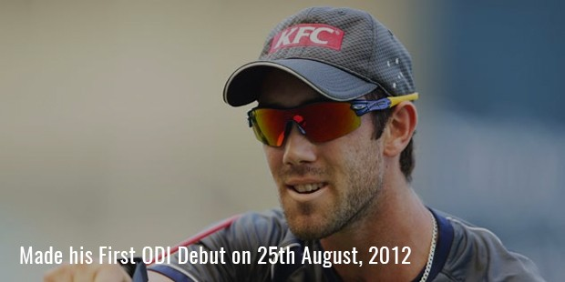 made his first odi debut on 25th august, 2012