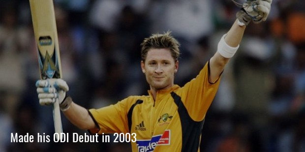 made his odi debut in 2003
