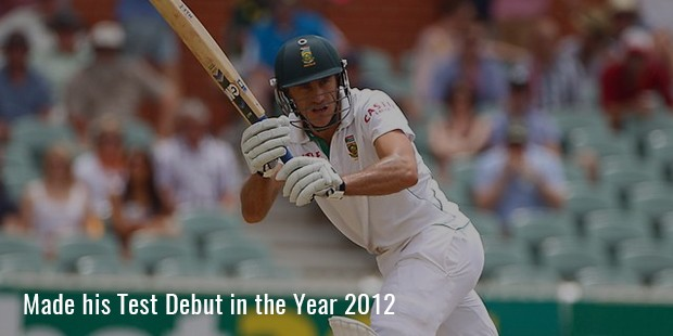 made his test debut in the year 2012