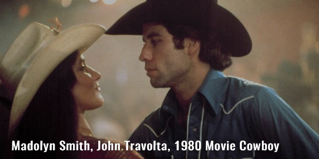 madolyn smith, john travolta, 1980 movie cowboy