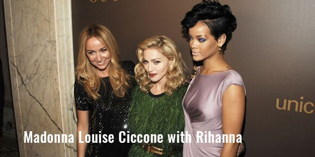 madonna louise ciccone with rihanna