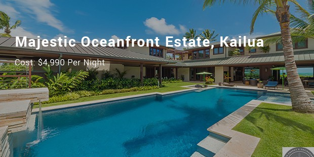 majestic oceanfront estate, kailua
