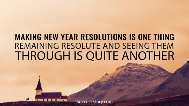 Making New Year resolutions