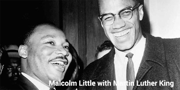 malcolm little with martin luther king jr